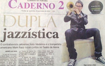 Great press in Brasil! Played with Chico Cesar and Black Xisto!